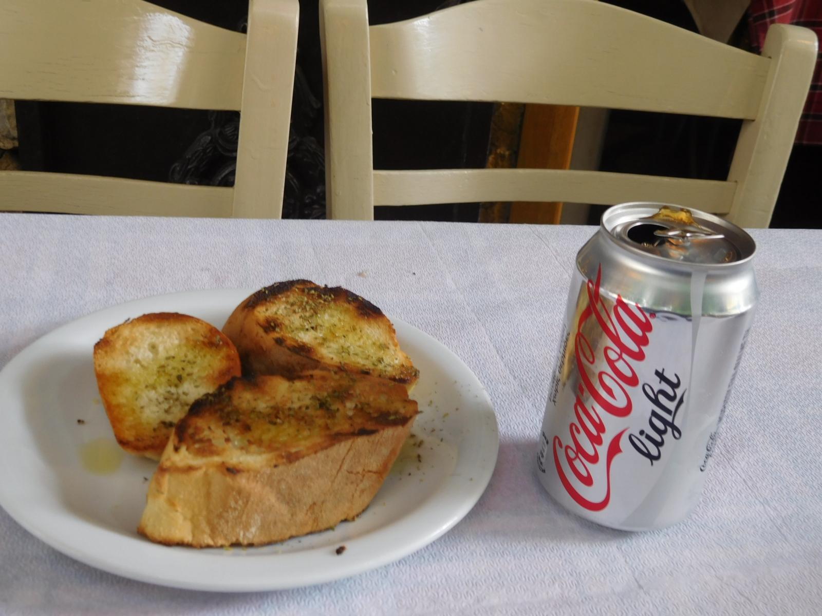 Garlic Bread and Coke Lite